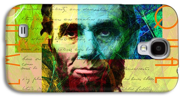 Slavery Digital Art Galaxy S4 Cases - Abraham Lincoln Gettysburg Address All Men Are Created Equal 2014020502p28 Galaxy S4 Case by Wingsdomain Art and Photography
