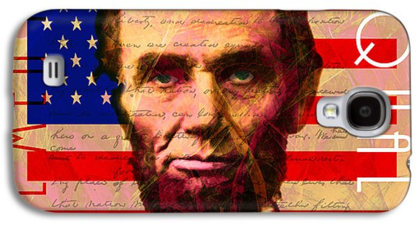 Slavery Digital Art Galaxy S4 Cases - Abraham Lincoln Gettysburg Address All Men Are Created Equal 20140211 Galaxy S4 Case by Wingsdomain Art and Photography