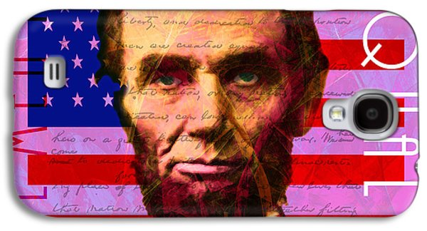 Slavery Digital Art Galaxy S4 Cases - Abraham Lincoln Gettysburg Address All Men Are Created Equal 20140211m88 Galaxy S4 Case by Wingsdomain Art and Photography