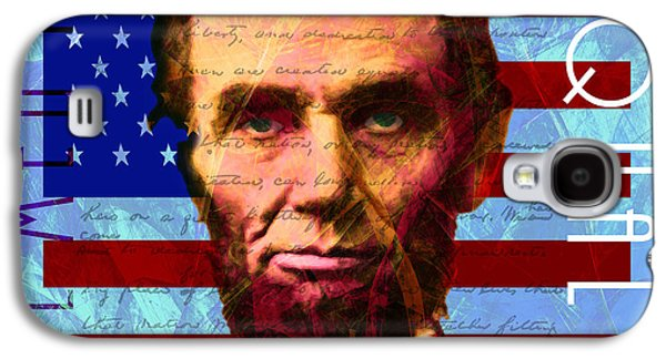Slavery Digital Art Galaxy S4 Cases - Abraham Lincoln Gettysburg Address All Men Are Created Equal 20140211p180 Galaxy S4 Case by Wingsdomain Art and Photography