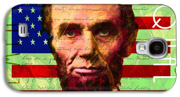 Slavery Digital Art Galaxy S4 Cases - Abraham Lincoln Gettysburg Address All Men Are Created Equal 20140211p68 Galaxy S4 Case by Wingsdomain Art and Photography
