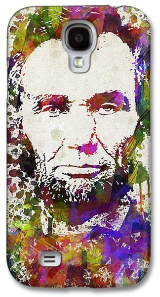 Abraham Lincoln Galaxy S4 Cases - Abraham Lincoln in Color Galaxy S4 Case by Aged Pixel