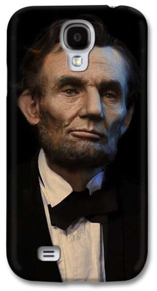 Abraham Lincoln Galaxy S4 Cases - Abraham Lincoln Portrait Galaxy S4 Case by Ray Downing