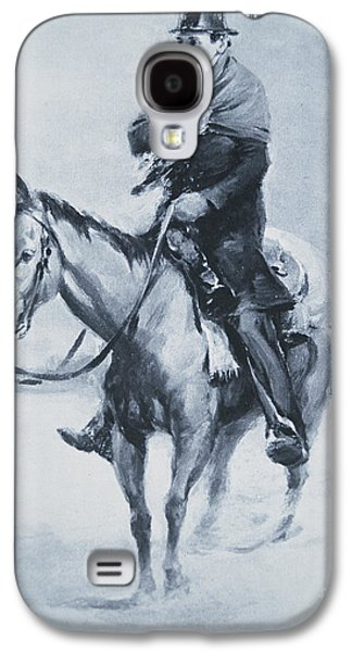 Historical Figures Galaxy S4 Cases - Abraham Lincoln Riding his Judicial Circuit Galaxy S4 Case by Louis Bonhajo
