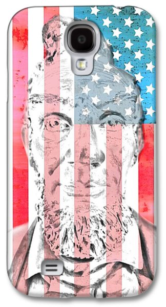 Slavery Mixed Media Galaxy S4 Cases - Abraham Lincoln Vintage American Flag Galaxy S4 Case by Dan Sproul