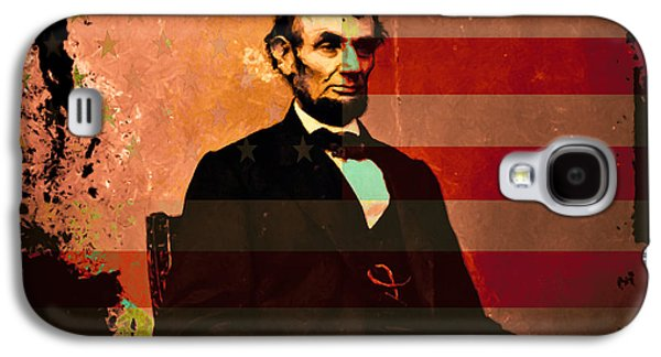 Slavery Digital Art Galaxy S4 Cases - Abraham Lincoln Galaxy S4 Case by Wingsdomain Art and Photography