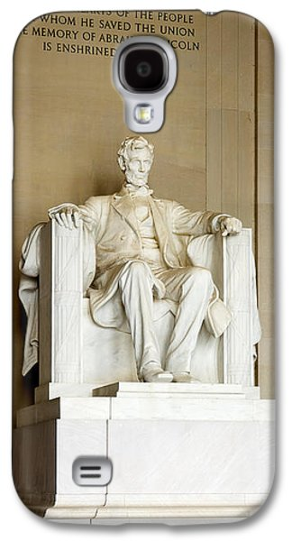 Abraham Lincolns Statue In A Memorial Galaxy S4 Case by Panoramic Images
