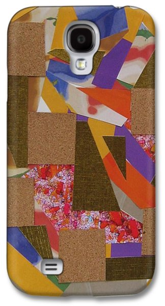 Abstract Collage Drawings Galaxy S4 Cases - Absract No 8 Galaxy S4 Case by Paul Meinerth