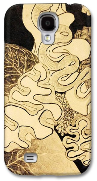 Abstract Collage Drawings Galaxy S4 Cases - Abstract 1 Galaxy S4 Case by Linnea VanderMolen