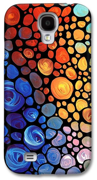 Yellow Paintings Galaxy S4 Cases - Abstract 1 Galaxy S4 Case by Sharon Cummings