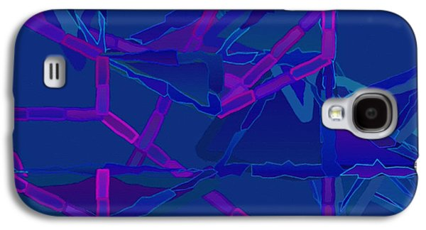 Cambridge Paintings Galaxy S4 Cases - Abstract 136 Galaxy S4 Case by Victor Gladkiy