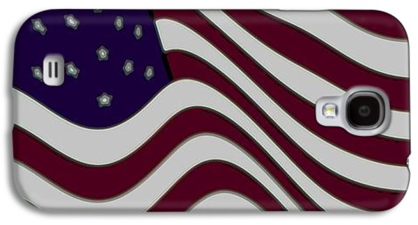 Slaves Galaxy S4 Cases - Abstract 50 Star American Flag Flying Enhanced cropped x 2 Galaxy S4 Case by L Brown