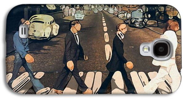 Beatles Galaxy S4 Cases - Abstract Abbey Road The Beatles Galaxy S4 Case by Dan Sproul