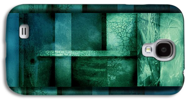 Abstract Digital Art Galaxy S4 Cases - abstract art Blue Dream Galaxy S4 Case by Ann Powell