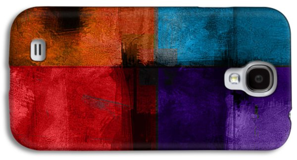 Abstract Digital Art Galaxy S4 Cases - abstract - art- Color Block Square Galaxy S4 Case by Ann Powell