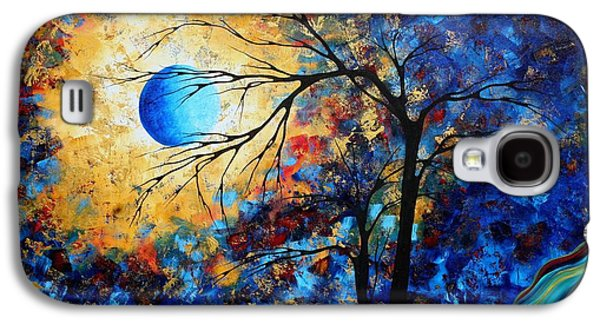 Recently Sold -  - Colorful Abstract Galaxy S4 Cases - Abstract Art Landscape Metallic Gold Textured Painting EYE OF THE UNIVERSE by MADART Galaxy S4 Case by Megan Duncanson