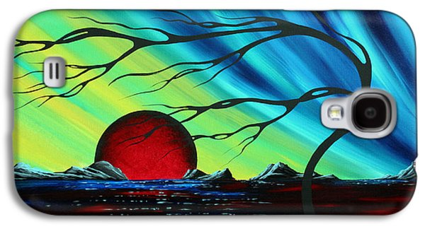 Abstract Landscape Galaxy S4 Cases - Abstract Art Landscape Seascape Bold Colorful Artwork SERENITY by MADART Galaxy S4 Case by Megan Duncanson