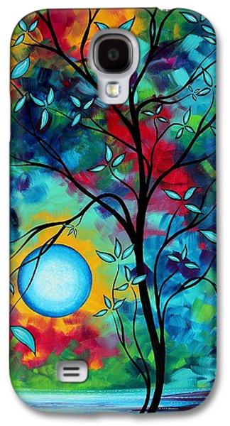 Abstract Art Landscape Tree Blossoms Sea Painting Under The Light Of The Moon I  By Madart Galaxy S4 Case by Megan Duncanson