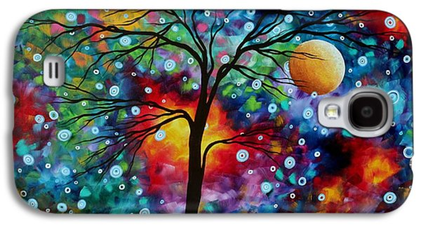 Bold Style Galaxy S4 Cases - Abstract Art Original Colorful Landscape Painting A MOMENT IN TIME by MADART Galaxy S4 Case by Megan Duncanson