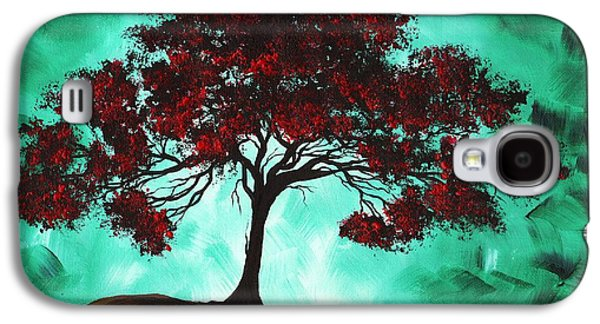 Abstract Landscape Galaxy S4 Cases - Abstract Art Original Colorful Tree Painting PASSION FIRE by MADART Galaxy S4 Case by Megan Duncanson
