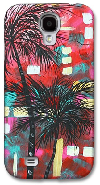 Abstract Art Original Tropical Landscape Painting Fun In The Tropics By Madart Galaxy S4 Case by Megan Duncanson