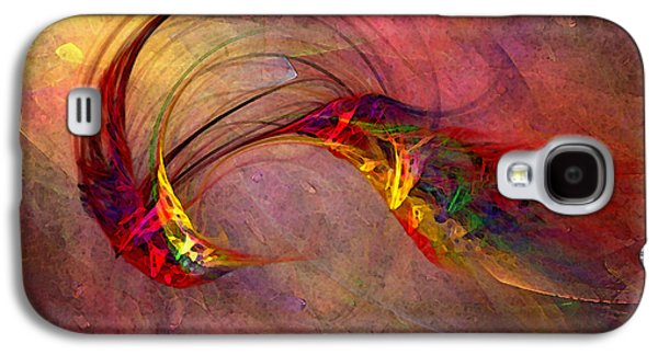 Abstract Expression Galaxy S4 Cases - Abstract Art Print Hummingbird Galaxy S4 Case by Karin Kuhlmann