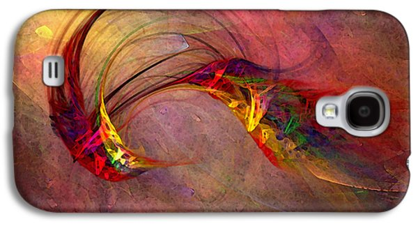Modern Abstract Galaxy S4 Cases - Abstract Art Print Hummingbird Galaxy S4 Case by Karin Kuhlmann