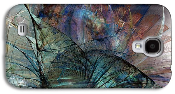 Abstract Expression Galaxy S4 Cases - Abstract Art Print In the Mood Galaxy S4 Case by Karin Kuhlmann