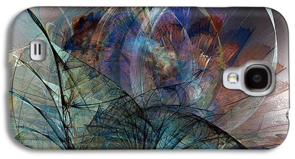 Contemplative Digital Galaxy S4 Cases - Abstract Art Print In the Mood Galaxy S4 Case by Karin Kuhlmann
