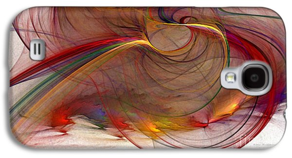 Contemplative Digital Galaxy S4 Cases - Abstract Art Print Inflammable Matter Galaxy S4 Case by Karin Kuhlmann