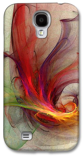 Mathematical Design Galaxy S4 Cases - Abstract Art Print Sign Galaxy S4 Case by Karin Kuhlmann