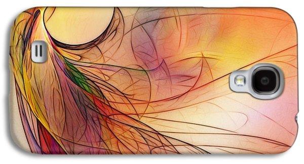 Abstract Art Print Sunday Morning Sidewalk Galaxy S4 Case by Karin Kuhlmann