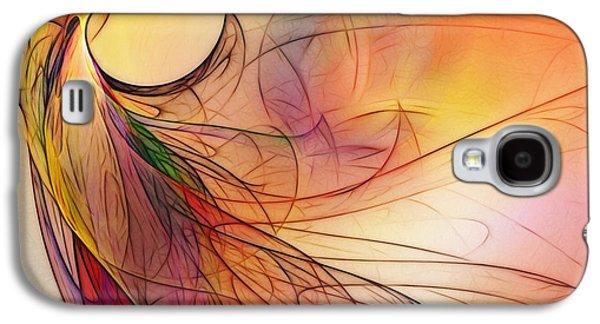 Contemplative Digital Galaxy S4 Cases - Abstract Art Print Sunday Morning Sidewalk Galaxy S4 Case by Karin Kuhlmann