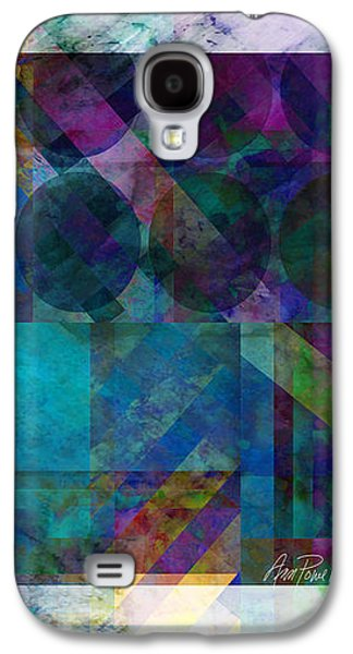 Abstract Digital Digital Galaxy S4 Cases - abstract - art - Stripes Five  Galaxy S4 Case by Ann Powell