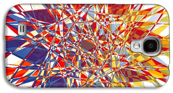 Abstract Digital Tapestries - Textiles Galaxy S4 Cases - Abstract Background Olor Galaxy S4 Case by Jozef Jankola