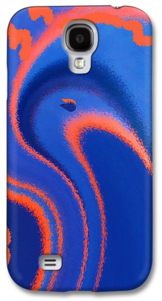 Ben Gertsberg Digital Art Galaxy S4 Cases - Abstract Blue Bird Galaxy S4 Case by Ben and Raisa Gertsberg