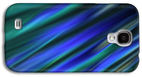 Diagonal Galaxy S4 Cases - Abstract Blue Green Diagonal Blur Galaxy S4 Case by Marvin Spates