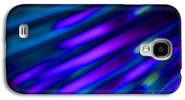 Diagonal Galaxy S4 Cases - Abstract Blue Green Pink Diagonal Galaxy S4 Case by Marvin Spates
