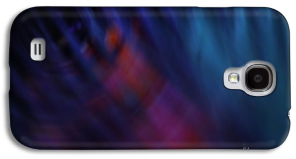 Abstracts Pyrography Galaxy S4 Cases - Abstract Blue Pink Green blur Galaxy S4 Case by Marvin Spates