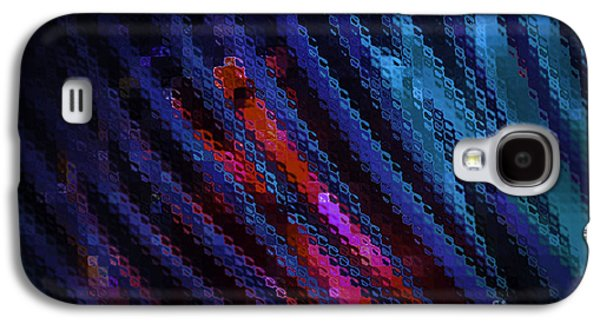 Diagonal Galaxy S4 Cases - Abstract Blue Red Green Blur Galaxy S4 Case by Marvin Spates