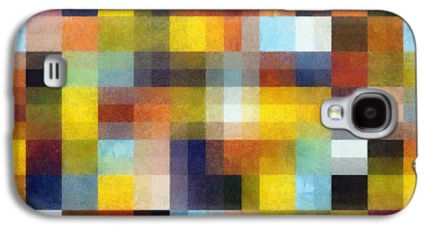 Abstract Boxes With Layers Galaxy S4 Case by Michelle Calkins