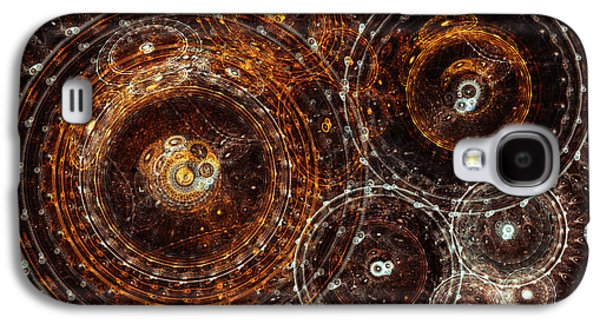 Mechanism Galaxy S4 Cases - Abstract bronze circle fractal  Galaxy S4 Case by Martin Capek