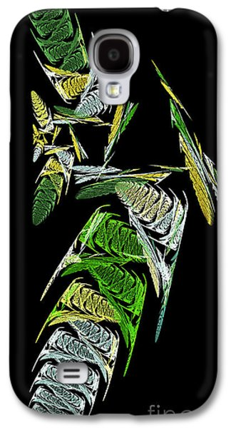 Abstract Digital Mixed Media Galaxy S4 Cases - Abstract Bugs Vertical Galaxy S4 Case by Andee Design