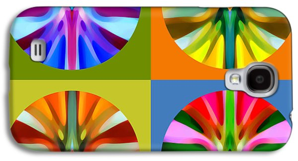 Abstract Digital Art Galaxy S4 Cases - Abstract Circles and Squares 1 Galaxy S4 Case by Amy Vangsgard