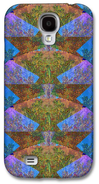 Graph Mixed Media Galaxy S4 Cases - Abstract compilation of MOON ARC  Materials used from nature photography of fall season around Oakvi Galaxy S4 Case by Navin Joshi