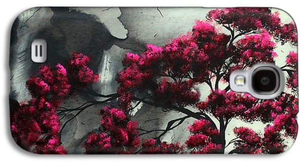 Black Bird.flying Paintings Galaxy S4 Cases - Abstract Contemporary Art Landscape Painting Modern Artwork PINK PASSION by MADART Galaxy S4 Case by Megan Duncanson