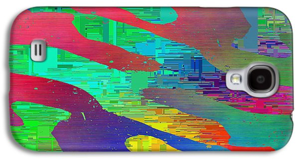 Purple Abstract Beige Galaxy S4 Cases - Abstract Cubed 9 Galaxy S4 Case by Tim Allen