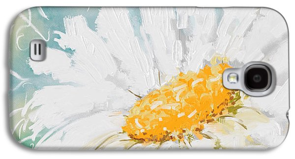 Abstract Digital Paintings Galaxy S4 Cases - Abstract daisy Galaxy S4 Case by Veronica Minozzi