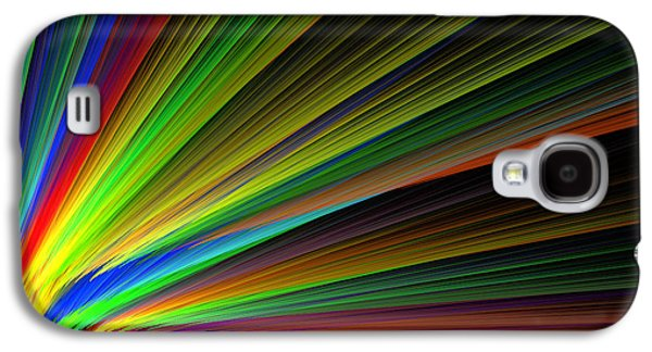 Abstract Digital Galaxy S4 Cases - Abstract Digital Fractal Flame Art Galaxy S4 Case by Keith Webber Jr