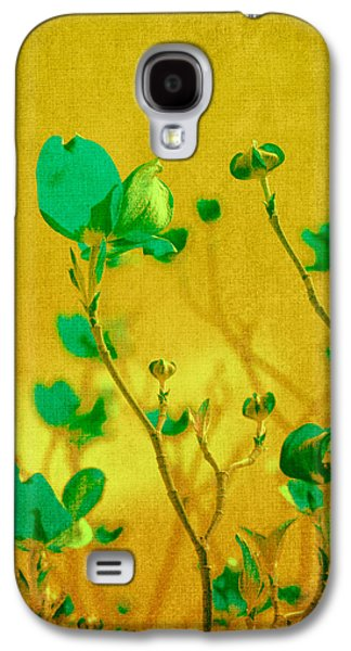 Floral Digital Art Galaxy S4 Cases - Abstract Dogwood Galaxy S4 Case by Bonnie Bruno